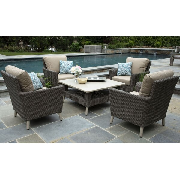Boswell 5 Piece Sunbrella Sofa Set with Cushions by Brayden Studio