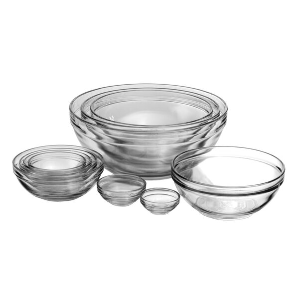 Anchor 10 Piece Glass Nesting Mixing Bowl Set by Anchor