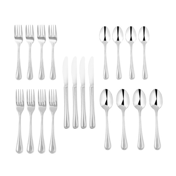 Ryckman 20-Piece 18/10 Stainless Steel Flatware Set by Charlton Home