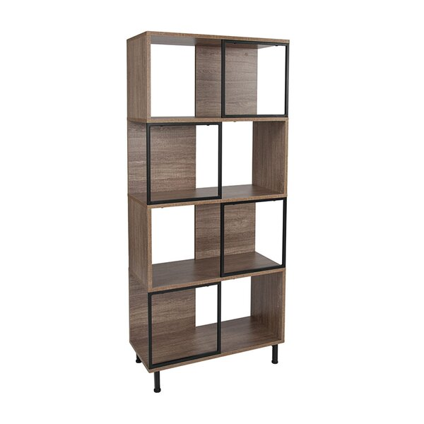 Elivra Geometric Bookcase By Union Rustic