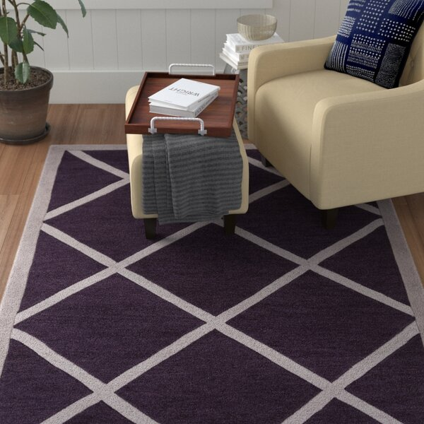 Cleitus Purple/Ivory Area Rug by Red Barrel Studio