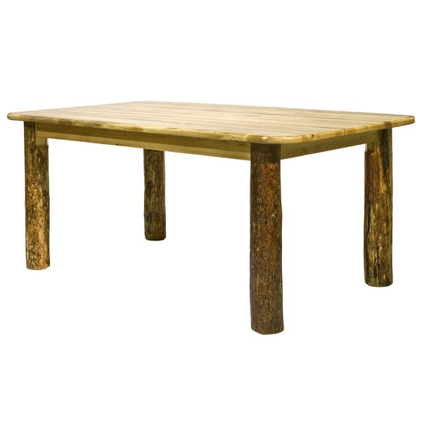 Tustin 4 Post Solid Wood Dining Table by Loon Peak