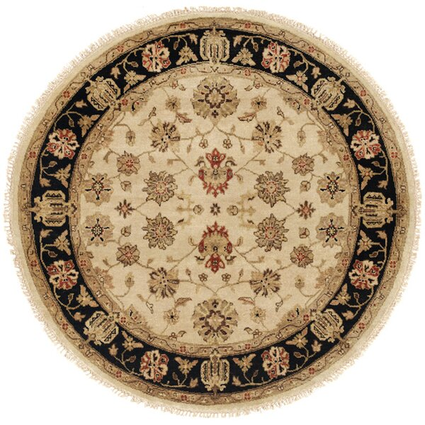 Vladivostok Hand-Knotted Ivory/Brown Area Rug by Wildon Home ®