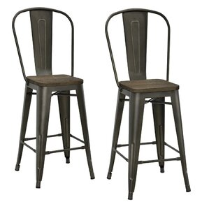 Fortuna 23 5  Bar Stool  Set  Copper   Bronze Bar Stools You ll Love   Wayfair. Should Your Bar Stools Match Your Dining Chairs. Home Design Ideas