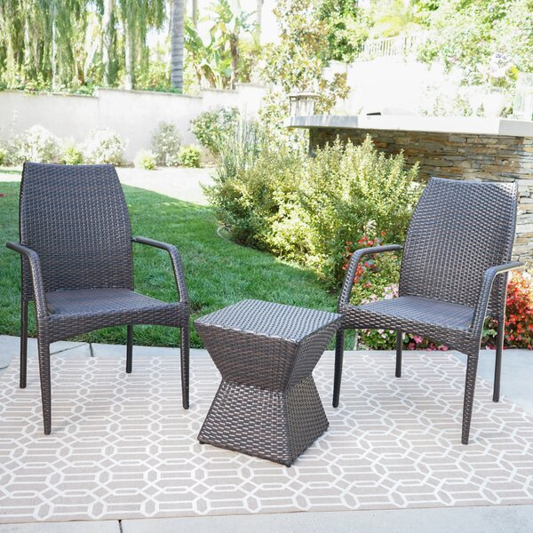 Paulk 3 Piece Seating Group by Wrought Studio