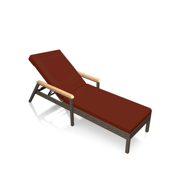 Hodge Reclining Chaise Lounge with Cushion by Rosecliff Heights Rosecliff Heights