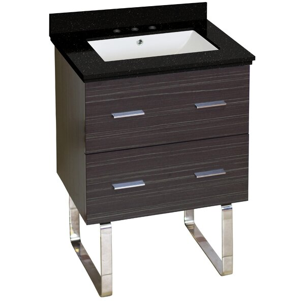 Phoebe 2 Drawers Drilling Floor Mount 24 Single Bathroom Vanity Set by Orren Ellis