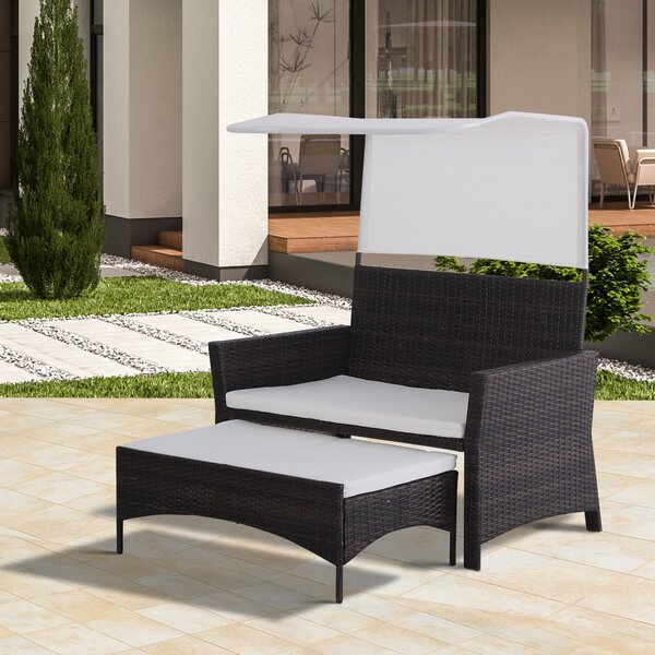 Fauntleroy 2 Piece Rattan Seating Group with Cushions by Charlton Home