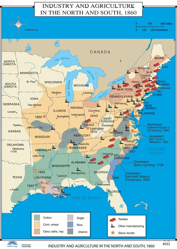 Universal Map US History Wall Maps Industry Agriculture In - Agriculture in the us map