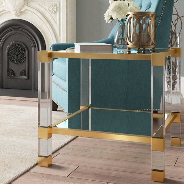 O'Hara Glass Top End Table With Storage By Willa Arlo Interiors