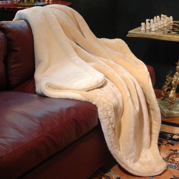 Reversible Velvety Plush Throw Blanket by Yasuko International