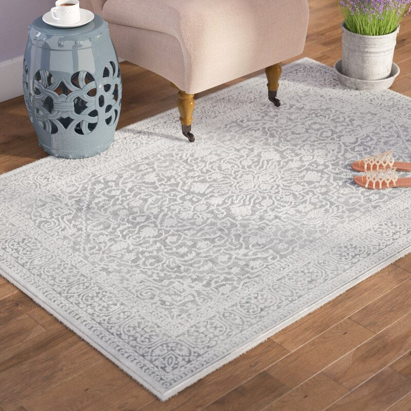 Pellot Light Gray Cream Area Rug