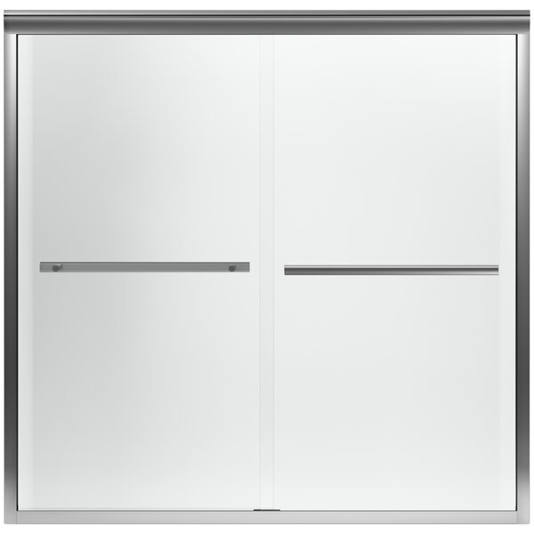 Gradient 59.63 x 58.06 Double Sliding Bath Door with CleanCoat® Technology by Kohler