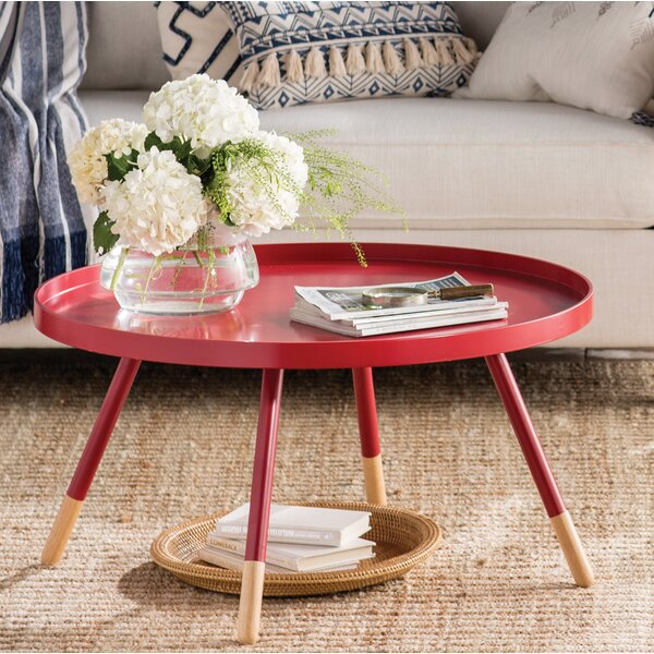 Acevedo Coffee Table with Tray Top by Mercury Row