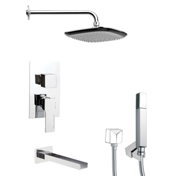 Tyga Pressure Balanced Complete Shower System with Rough-in Valve by Remer by Nameek's Remer by Nameek's