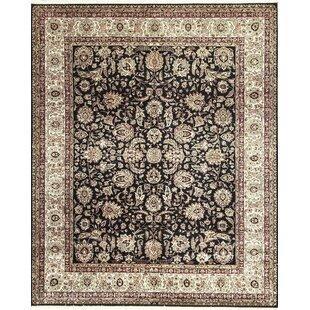 One-of-a-Kind Handwoven Wool Black/Beige Indoor Area Rug ByBokara Rug Co., Inc.