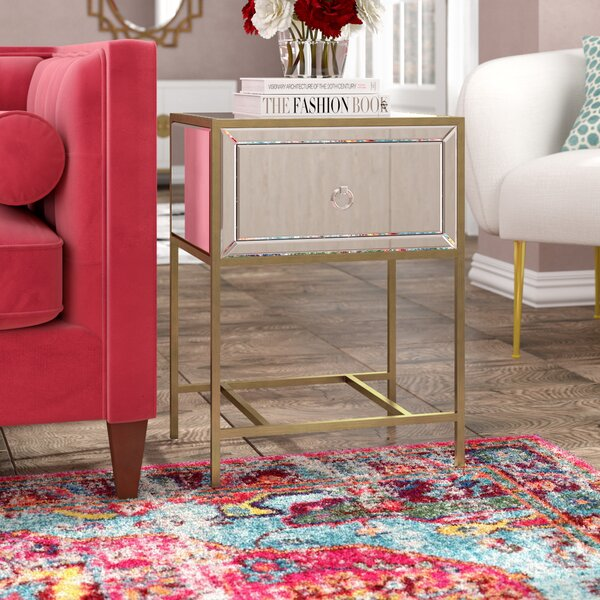 Crosby End Table With Storage by Willa Arlo Interiors