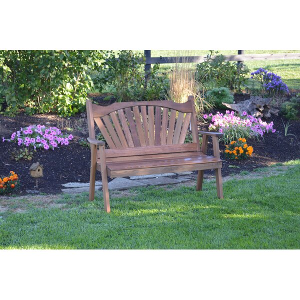 Gause Fanback Wood Garden Bench by Millwood Pines Millwood Pines