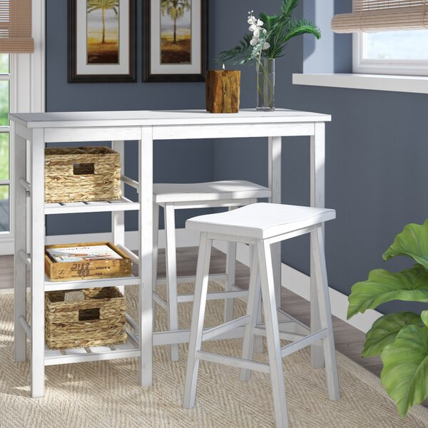 Gardiner 3 Piece Pub Table Set by Beachcrest Home