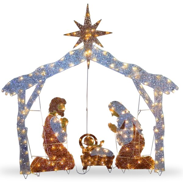 Crystal Nativity Christmas Decoration by The Holid