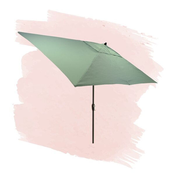 Solid 6.5' X 10' Rectangular Market Umbrella By Foundstone