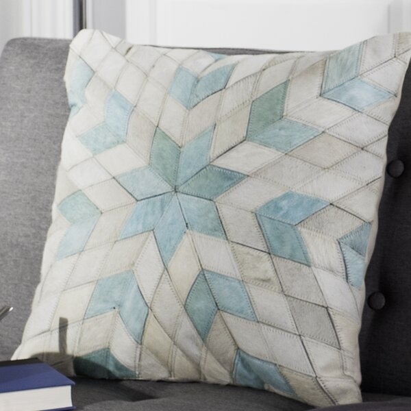 Arden Star Cowhide Throw Pillow by Everly Quinn