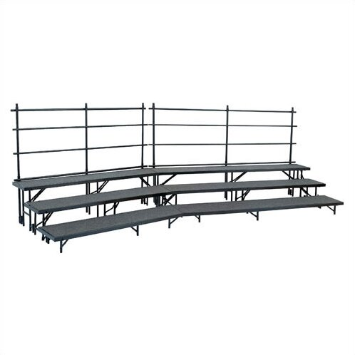 Tapered Standing Choral Riser Set in Hardboard by National Public Seating