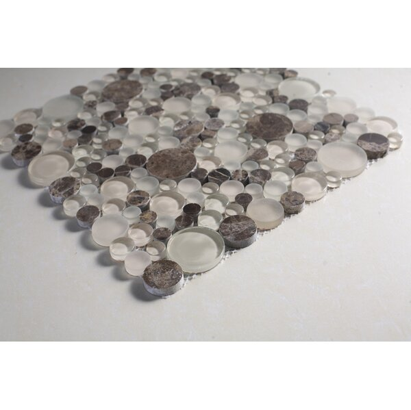 Glass Mosaic Tile in Brown/Clear by Multile