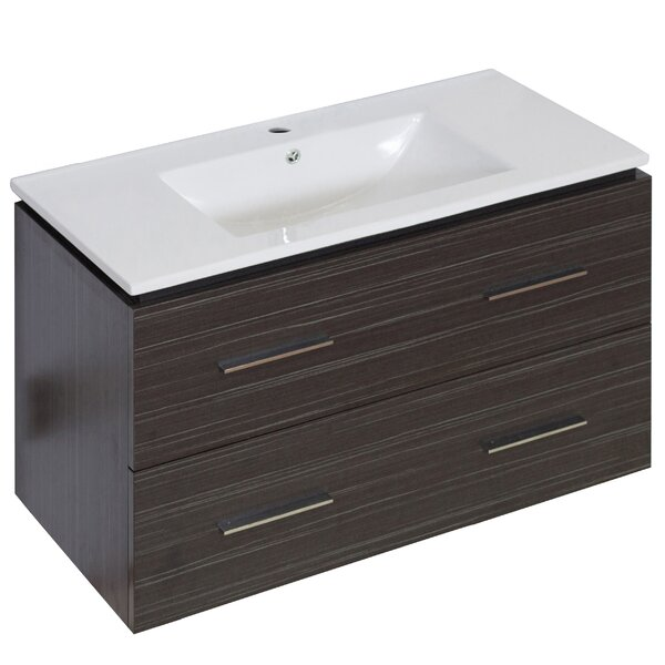 Kyra Modern 36 Rectangle Single Bathroom Vanity by Orren EllisKyra Modern 36 Rectangle Single Bathroom Vanity by Orren Ellis
