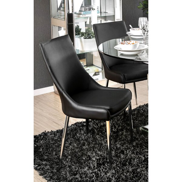 Niantic Modern Upholstered Dining Chair (Set of 2) by Orren Ellis