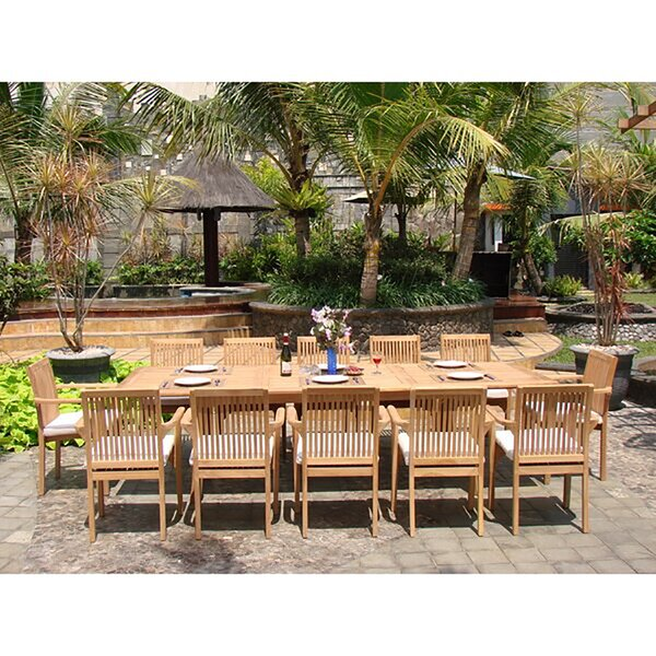 Cristopher Luxurious 13 Piece Teak Dining Set By Rosecliff Heights