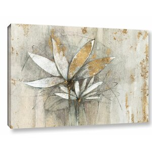 'Windflowers Gold Crop' by Avery Tillmon Painting Print on Wrapped Canvas by Andover Mills