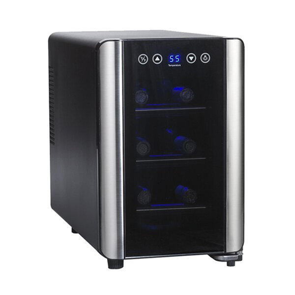6 Bottle Silent Series Single Zone Freestanding Wine Cooler by Wine Enthusiast