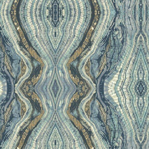 Kashmir Kaleidoscope Abstract Wallpaper by York Wallcoverings