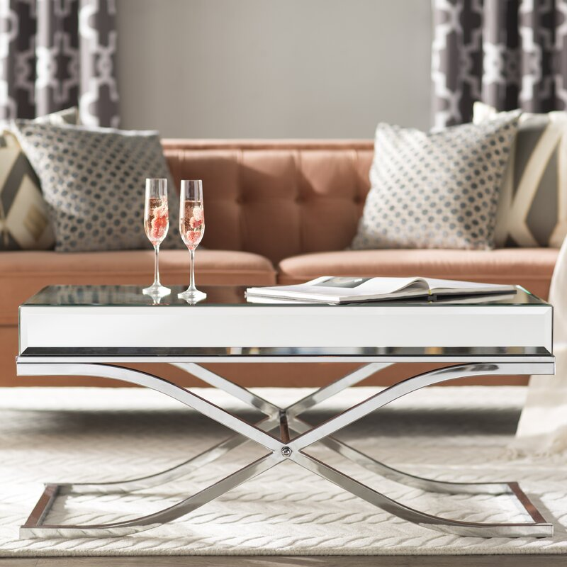 Jeannie Mirrored Coffee Table mirrored coffee tables Mirrored Coffee Tables to Upgrade Your Living Space Jeannie Mirrored Coffee Table