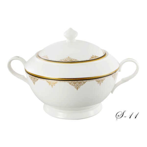 La Luna Bone China Angela 4 qt. Soup Tureen by Lorren Home Trends