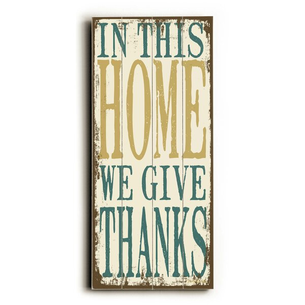We Give Thanks Textual Art Plaque by Red Barrel Studio