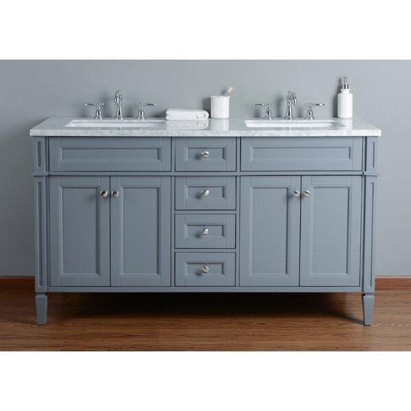 Mauricio French 60 Double Bathroom Vanity Set by Mistana