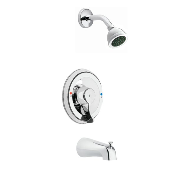 Commercial Posi-Temp Tub and Shower Faucet Trim with Lever Handle by Moen