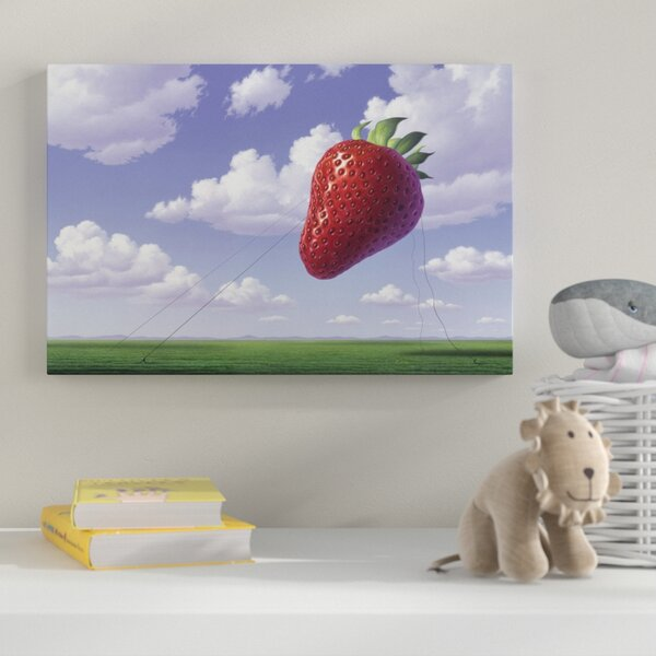 Strawberry Field Graphic Art on Wrapped Canvas by Zoomie Kids