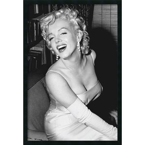 Marilyn Monroe Smiling by Anonymous Framed Photographic Print by Amanti Art