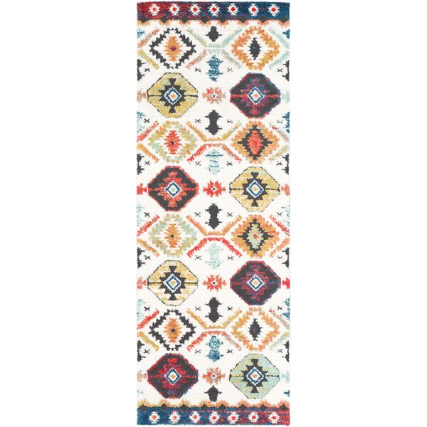 Almodovar Bohemian Bright Red/Bright Orange Area Rug by Bungalow Rose
