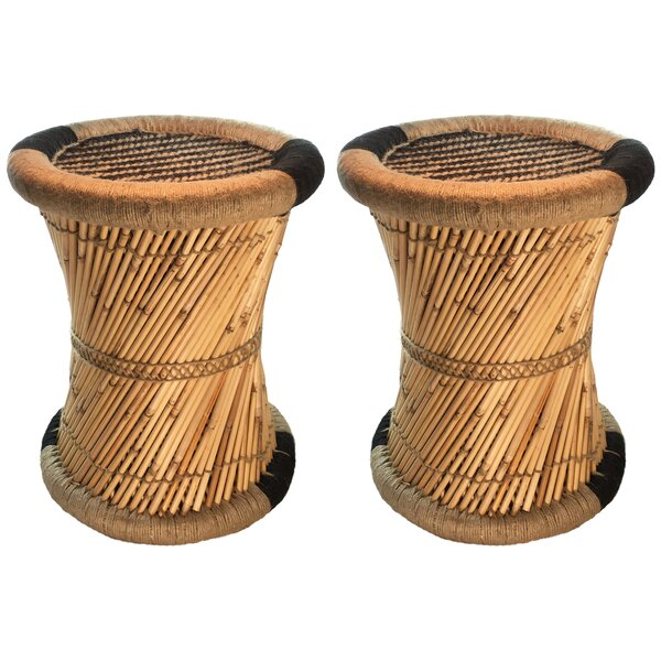 Moray Decorative Jute Striped Accent Stool (Set of 2) by Natural Geo