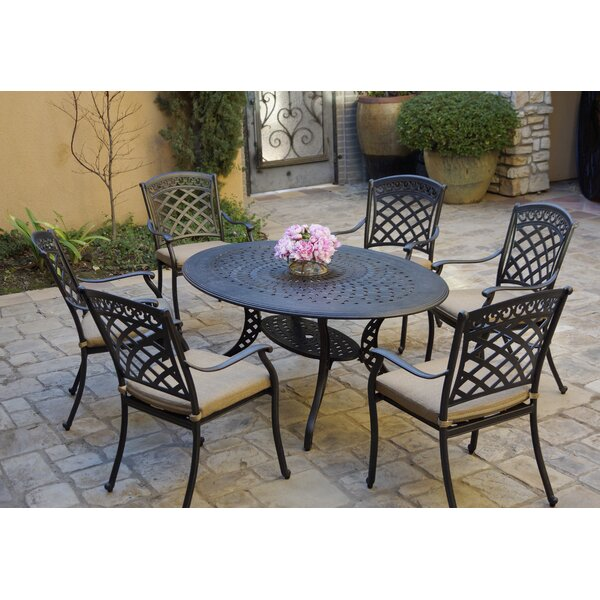 Germantown 7 Piece Dining Set with Cushions by Fleur De Lis Living