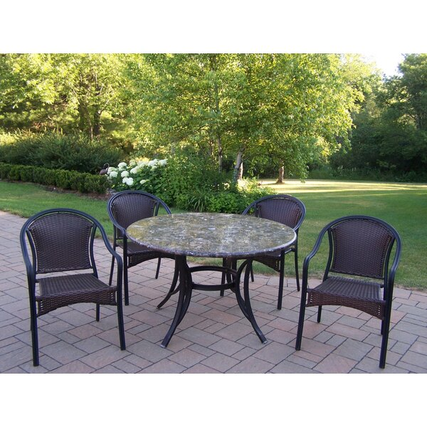Stone Art Tuscany 5 Piece Dining Set by Oakland Living