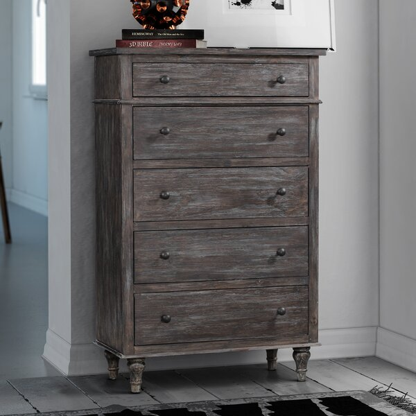 Johnson 5 Drawer Chest by Feminine French Country