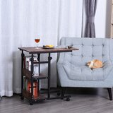 Graig Wheel End Table by 17 Stories