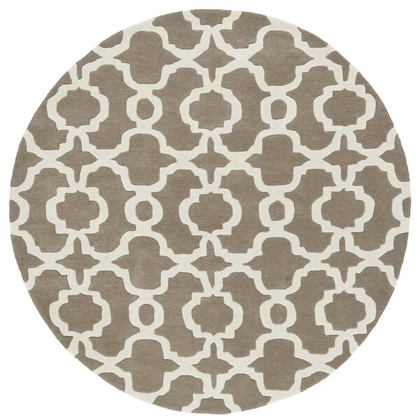 Molly Hand-Tufted Light Brown / Ivory Area Rug by Ivy Bronx