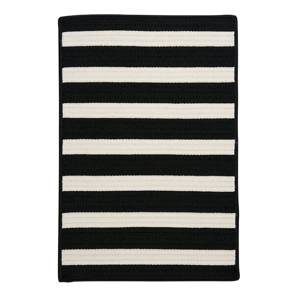 Georg Black Indoor/Outdoor Area Rug by Viv + Rae