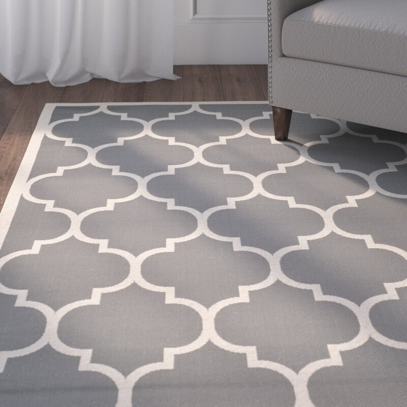 Safavieh Isaac Anthracite Beige Indoor Outdoor Area Rug